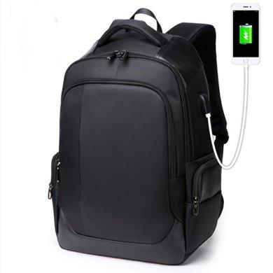 薩蒙斯 韓版休閑雙肩包USB男士背包商務電腦包旅行包 18670
