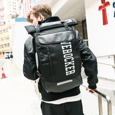香炫兒(XIASUAR)旅行雙肩包男士時尚潮流背包韓版個性書包大容量登山包休閑電腦包