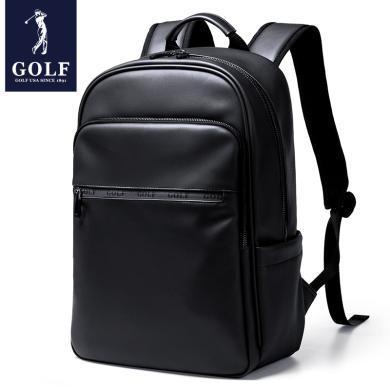 GOLF/高爾夫雙肩包男士背包電腦學生休閑書包時尚旅行包 D8GF33860T