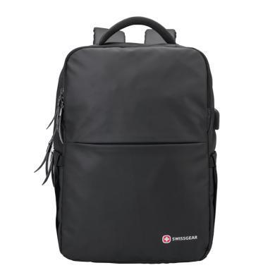 瑞士軍刀(SWISSGEAR) 時尚電腦包男青年雙肩背包輕便上班休閑包SA-8010黑色