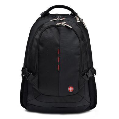 瑞士军刀(SWISSGEAR) 双肩包 防水多功能笔记本电脑包14.6英寸/15.6英寸商务背包男学生书包休闲 SA-9393黑色