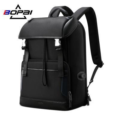 BOPAI博牌 新款男士背包休闲时尚双肩包男尼龙大容量大学生书包 61-00511