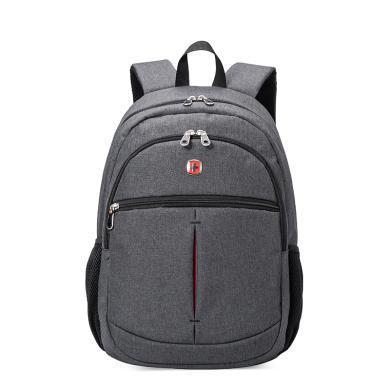 瑞士军刀 时尚商务背包 双肩背包 旅行包书包 SA-7756||| 深灰 浅灰色