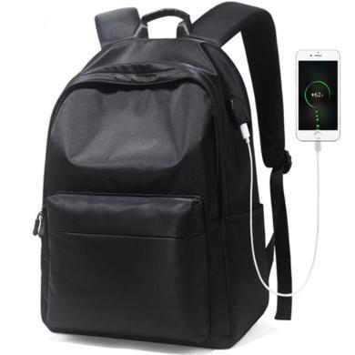 薩蒙斯 男士時尚潮流15.6寸雙肩電腦包大容量休閑背包個性大學生書包 621072