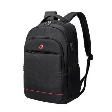 瑞士军刀 时尚商务背包 双肩背包 旅行包书包 背包SA-7756黑色
