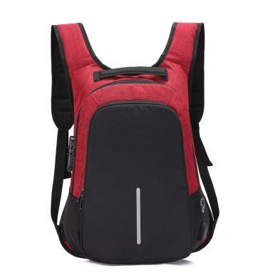搭歌防盗背包男士双肩包大容量电脑包旅行学生充电书包双肩背包D371612