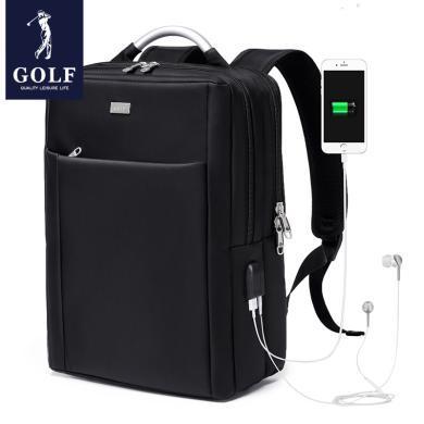 高爾夫GOLF背包男商務男士雙肩包旅行休閑書包男時尚潮流多功能電腦包  D833821