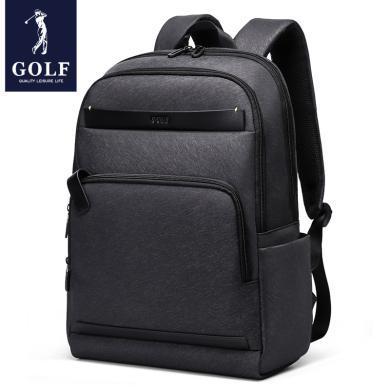 高爾夫GOLF商務雙肩包休閑時尚潮流大學生書包15.6寸電腦包男士背包潮  D933922