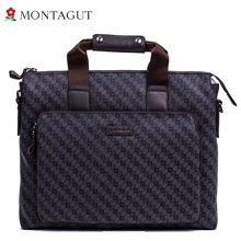 夢特嬌 男式時尚橫款手提包  單肩包男包 手提電腦包(MRC12903051N)啡色