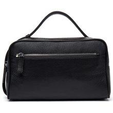 丹爵新款简约时尚牛皮男士手提包横款大容量手提包商务休闲男包D212-1