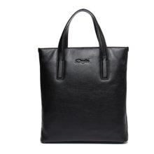 丹爵新款简约时尚牛皮男士公文包竖款手提包商务休闲男包D8078-2