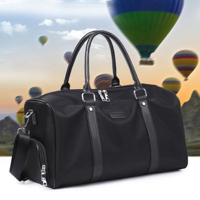 新款牛津布防水旅行带鞋位旅行袋大容量休闲单肩斜挎手提运动包W8852