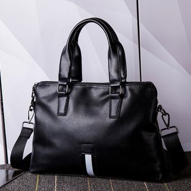 男士手提包橫款商務公文包青年包包大容量男包G1963