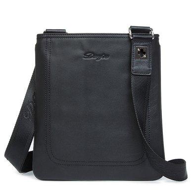 丹爵(DANJUE)時尚頭層牛皮薄型單肩斜挎包休閑包男包新款潮包90070-4
