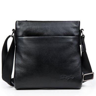 丹爵(DANJUE)男包牛皮韩版时尚单肩包商务休闲包包男式挎背包9313-0