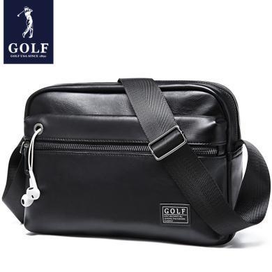 GOLF/高爾夫男包單肩包男斜挎時尚休閑商務休閑男士包包背包潮 D8GF42844T