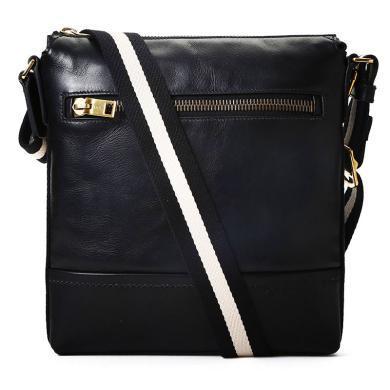 [支持購物卡]Bally/巴利男包 時尚潮流中款郵差包條紋肩帶經典信使斜挎包TREZZINI 斜挎包