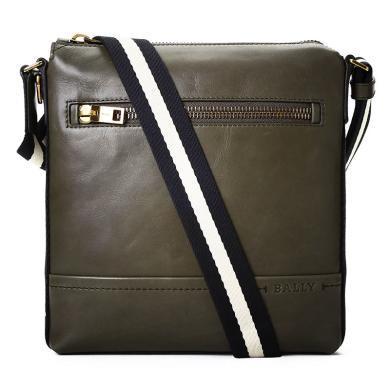 [支持购物卡]Bally/巴利男包 时尚潮流TREZZINI经典休闲条纹肩带单肩斜挎包