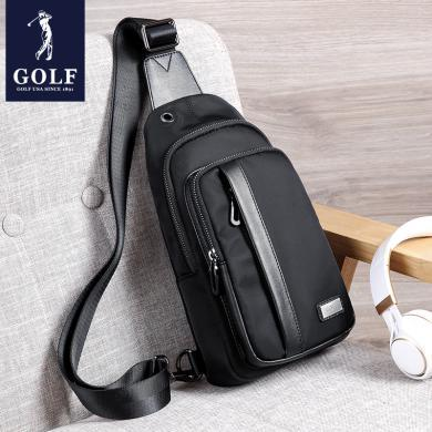 GOLF/高尔夫胸包男牛津帆布休闲单肩包男士包包韩版潮青年斜挎包  D8GF51971F