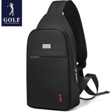 高爾夫GOLF胸包男士包包大容量防潑水耳機孔商務休閑胸包  D7GF51993T