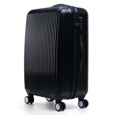 搭歌 拉桿箱PC鏡面小豎條拉桿箱旅行箱登機箱萬向輪行李箱男女箱包