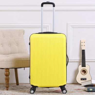 搭歌 拉杆箱行李箱子旅行箱包万向轮登机20/24寸条纹密码箱?#20449;?#28526;箱子
