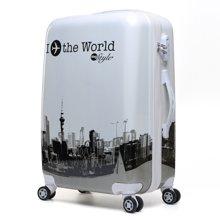 卡通镜面PC万向轮行李箱子女包拉杆箱20寸24寸潮流旅行箱学生箱包