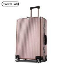 Macmillan铝框拉杆箱万向轮复古旅行箱PC行李箱登机皮箱软硬箱子