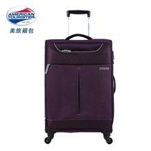 新秀丽之美国旅行者 TSA海关密码锁安全托运 美旅商务旅行箱 万向轮布箱拉杆箱系列25R紫色