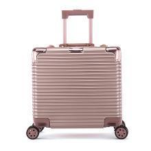 丹爵(DANJUE)18寸鋁框拉桿箱 男女通用行李箱登機箱 橫條紋萬向輪旅行箱 D35