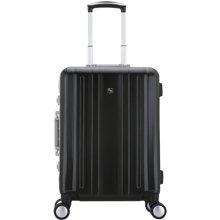2019新品防刮條紋鋁框20寸行李箱男女士24寸旅行拉桿箱