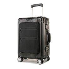 丹爵(DANJUE)輕商務登機箱高品質全鋁鎂合金旅行箱簡約男女通用TAS海關密碼鎖行李箱 D40