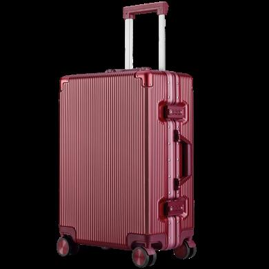 瑞士軍刀(SWISSGEAR) 拉桿箱萬向輪男女行李箱商務出差青年登機旅行箱SA-3820鋁礦款