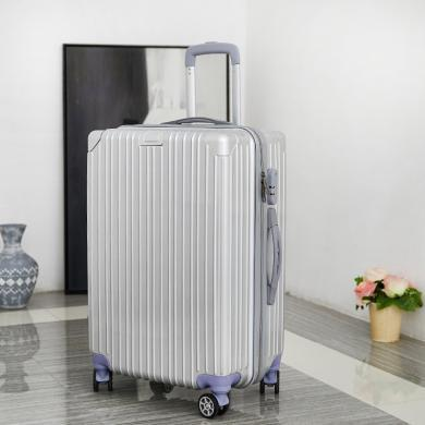搭歌 鏡面包角防摔抗震密碼PC拉桿箱子男女萬向輪旅行箱2024寸行李箱SL3