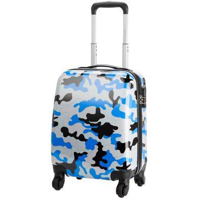 愛華仕兒童迷彩拉桿箱16寸親子出行旅行箱小女男孩可愛行李箱可坐