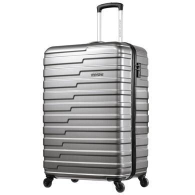 【爆款】新秀麗之美國旅行者 萬向輪拉桿箱 TAS通關鎖 美旅ABS/PC登機箱BF9灰色