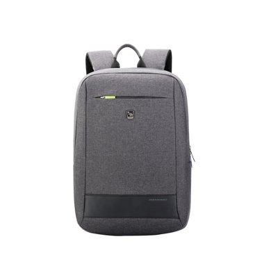 愛華仕雙肩包男商務電腦包大學生書包旅行雙肩背包男士書包