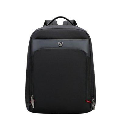 愛華仕雙肩包男商務時尚14寸電腦包雙肩多隔層牛津布背包女旅行包