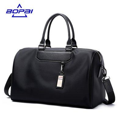 博牌 商務出差單肩短途旅行包男手提包休閑大容量行李袋旅游登機包732-003021