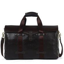 丹爵時尚頭層牛皮男士大容量手提包旅行包袋單肩斜挎行李包D3552-7