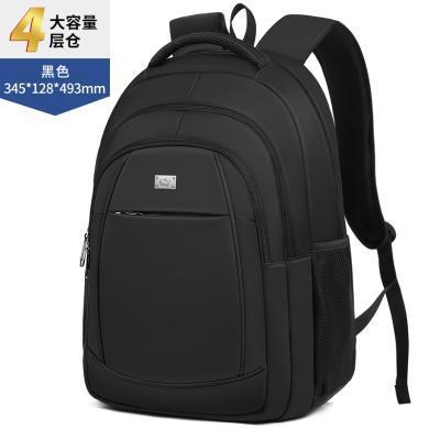 美洲野牛雙肩包旅行包男士背包大容量旅行包電腦包商務旅行袋時尚潮流旅行袋學生書包N2790-1