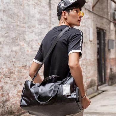 新款時尚旅行包男士休閑大容量手提包大包潮流手提旅行包L2075
