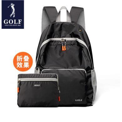 GOLF/高尔夫双肩包女男背包多色防水轻便携带旅行包户外包折叠包 X-D5GF82732T