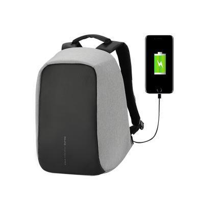 愛華仕雙肩包男商務時尚14寸電腦包雙肩多隔層休閑背包女旅行包
