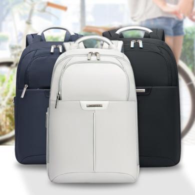新秀麗 韓版休閑旅行背包 男女13英寸商務電腦包拉鏈雙肩包BP2