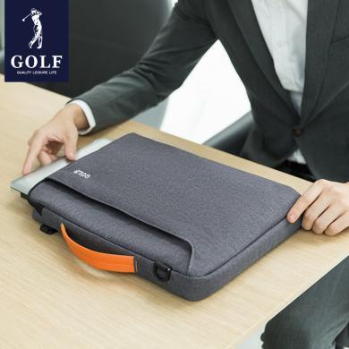 高爾夫GOLF簡約輕薄電腦包可放14英寸筆記本商務男士時尚手提包防潑水可拆卸肩帶單肩包 D941935
