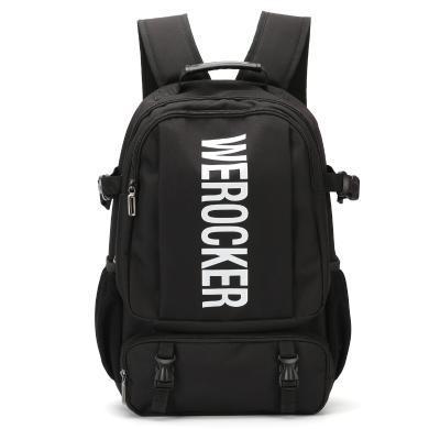香炫儿(XIASUAR)简约新款双肩包男潮牌休闲简约旅行大容量高中学生书包男女通用背包大容量电脑包15.6英寸