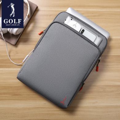 高尔夫GOLF多功能电脑包14英寸笔记本包防泼水手提包苹果联想戴尔通用款包边内胆包 D922926