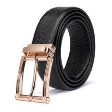 丹爵新款韓版時尚男士皮帶合金扣頭針扣腰帶精美禮盒裝皮帶31