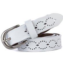 海謎璃  新款二層牛皮女士皮帶針扣女腰帶時尚鏤空帶身腰鏈曲邊帶身 H62
